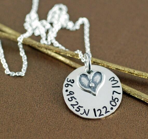 Coordinates Necklace - Latitude Longitude Necklace - Custom Coordinates Necklace - Longitude Latitude Jewelry - Personalized Necklace