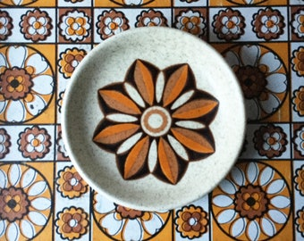 Retro vintage Royal Worcester Palissy 'casual tableware' butter pat or jam dish