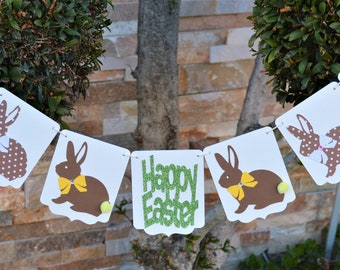 easter bunny , bunny banner, easter decor