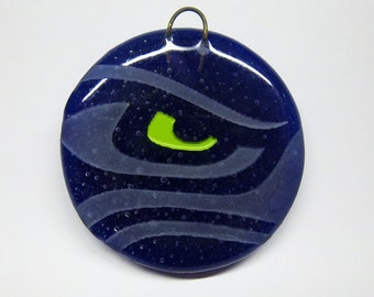 SEAHAWKS - Eye of the Hawk - Recycled Glass