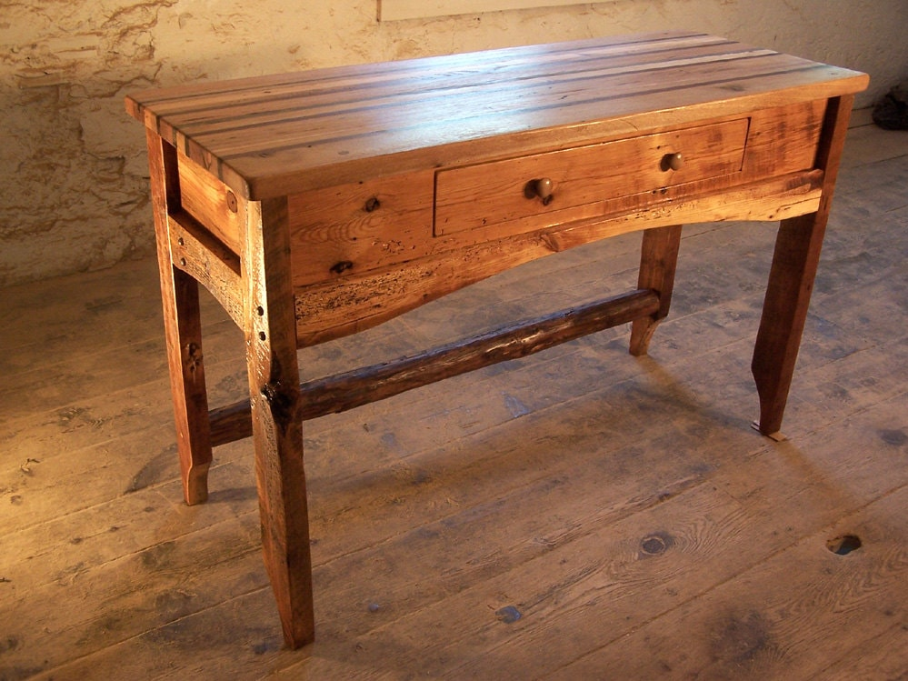 Butcher Block Kitchen Island from Reclaimed Hardwood and