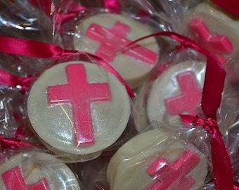 Chocolate Cross Oreo - Communion Favor - Chocolate Covered Communion Oreo - 1st Communion Favor - Christening Favor - Baptism Oreo Favor