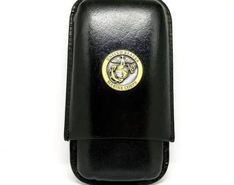 US Marines Cigar Case – Bronze/Two-Tone