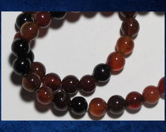 """Agate, Red - 15"""" strand of 6mm smooth round ball. Approx 64 gemstone beads. #AGAT-453"""