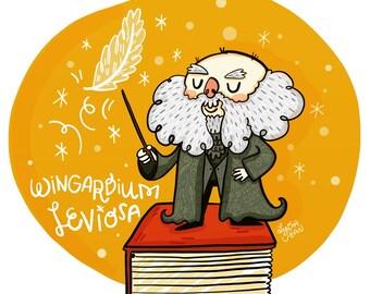 Flitwick Harry Potter Fan Art Illustration