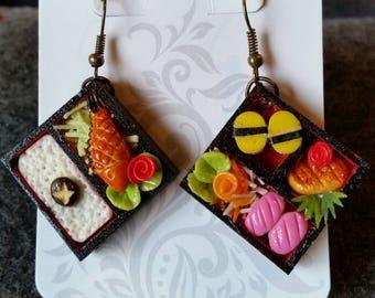 Unique Gift Idea-  Bento Box Earrings! #2