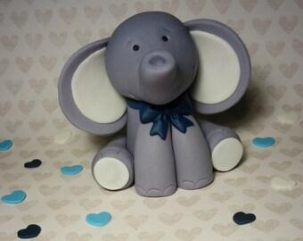 Elephant fondant cake topper