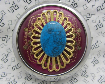 Compact Mirror Queenie Comes with Protective Pouch Bridesmaid Gift All Ocassion Gift
