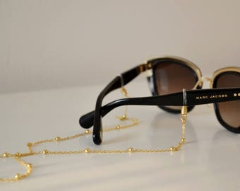 GOLD SUNSHINE II shadeloops // eyeglass chain, eyeglass holder, eyeglass leash, eyeglass holder, glasses chain, brillenkette, shadeloops
