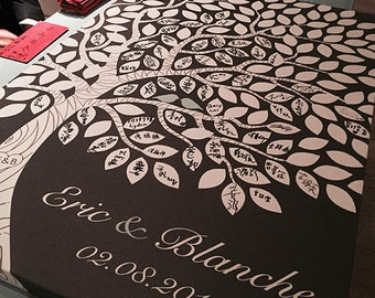 Wedding Guest Book - Alternative Guestbook - Personalized Wedding Gift Ideas - 55-300 Guest Sign In - Gallery Wrapped Canvas
