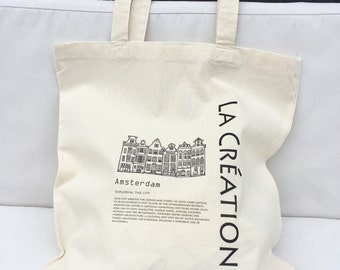 TOTE Bag - Canvas Shopping bag - Amsterdam