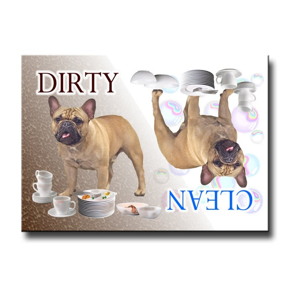 French Bulldog Clean Dirty Dishwasher Magnet No 3
