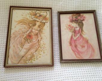Francis St. Marc framed midcentury art prints