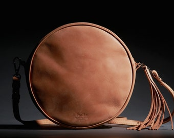 CROSSBODY BAG, Crossbody purse, Round bag, Crossbody leather bag, Crossbody leather purse, Crossbody handbags, Small handbag, Tan bag