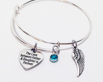 Memorial Gift Dad, Memorial Jewelry, In Loving Memory Of Dad, Sympathy Gift Father, Dad Memorial, Loss of Father, In Memory of Dad