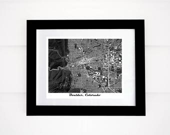 Boulder Map Print, Colorado, CU, Flatirons, More Colors!