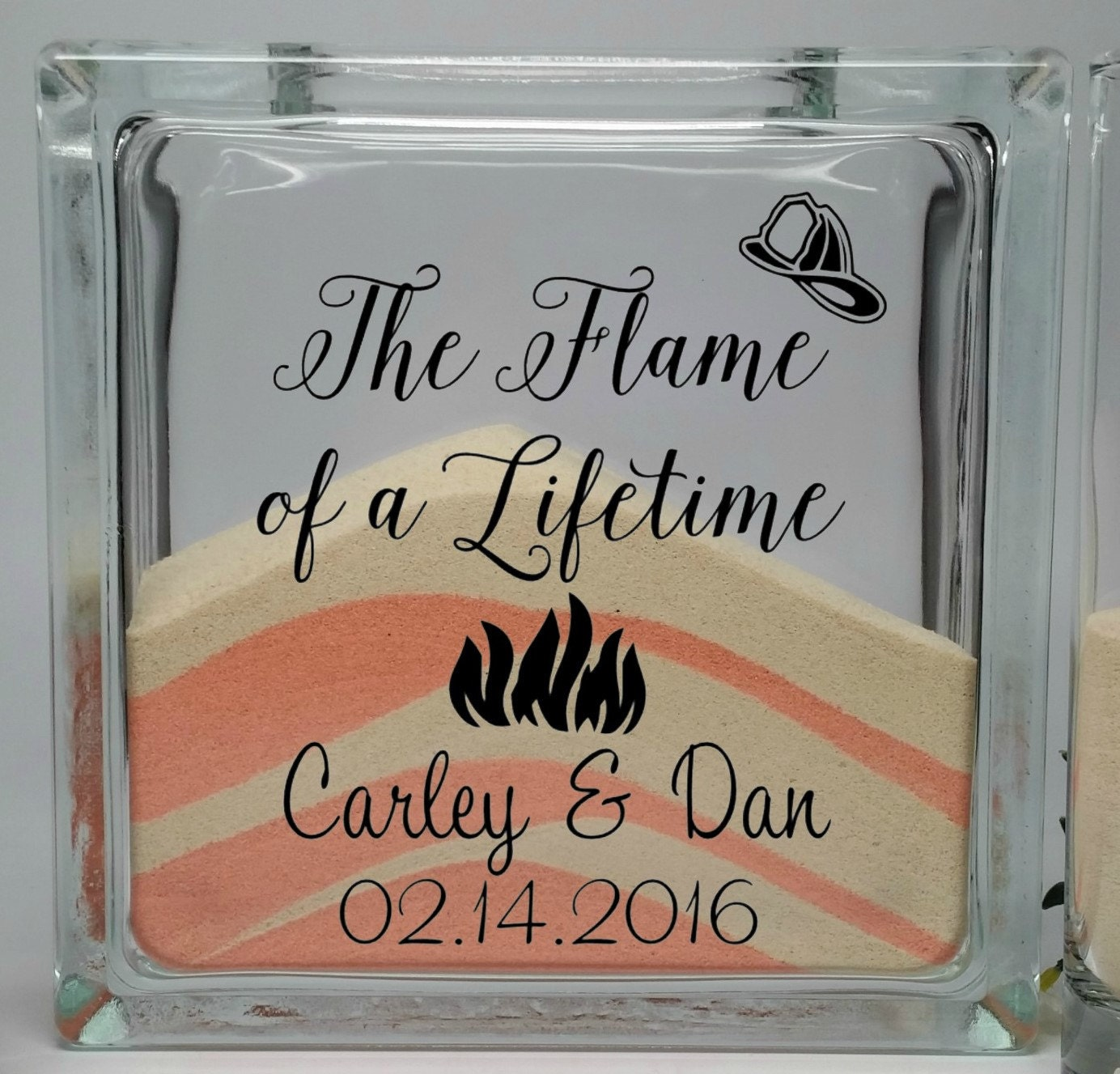 Firefighter Wedding Decor Unity Sand Set Fireman Wedding