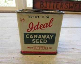 Vintage Ideal Caraway Seed Tin