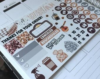 Coffee / Ultimate weekly kit / Planner stickers / Weekly kit