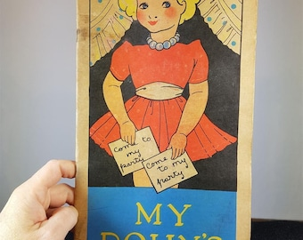 Vintage My Dolly's Picture and Story Book 1920's