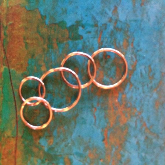 Cartilage Hoop Rose Gold Nose Ring Septum Ring Helix Hoop Tragus Earring Conch Orbital Sleepers 20g 22g Rose Gold Nose Hoop Tiny Thin Hoop