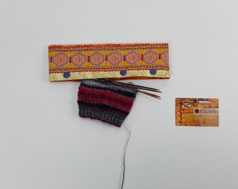 Needle cozy, DPN holder, needle Cozies, needle guard, needle play bag, 6 inches/15 cm and 8 inches/20 cm