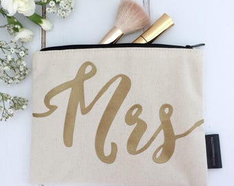 Mrs Make-Up Bag | Wedding Make-up Bag | Engagement Gift | Wedding Gift | Make-up Bag | Bridal Make-Up Bag