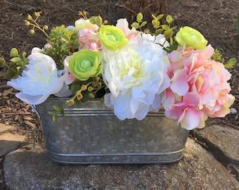 Rustic Floral Centerpiece - Spring Centerpiece - Easter Arrangement - Spring Arrangement - Easter Floral Arrangement - Spring Floral Arrange