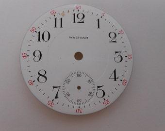 Waltham Pocket Watch Porcelain Dial Original 45MM(6) Like new