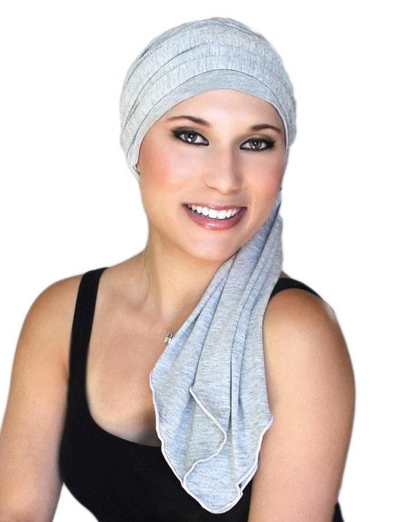 Zeer Chemo Hat tulband hoofd Wrap grijze tulband muts & sjaal QL28