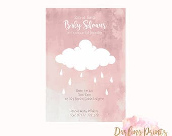 Baby Shower Invitations • DIGITAL FILE • Personalised and print ready