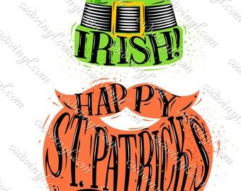 Leprechaun Face Sublimation Transfers - Red Beard Leprechaun - Kiss Me I'm Irish Transfer - Luck Of The Irish Shirt Design - SUB0008
