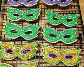 Masquerade Mask Cookies Dozen