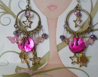 BO * Indian wedding atmosphere * on support metal BRONZE and pink
