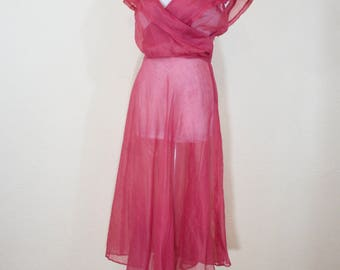 1930's sheer organza dress