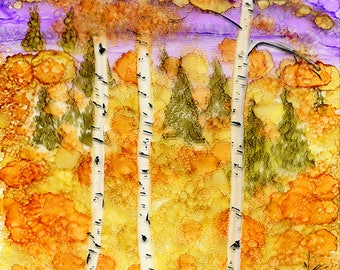 Purple Mountains Aspens