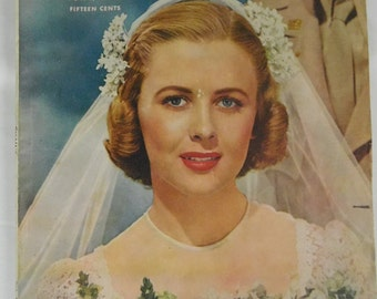 MCCALLS June Bridal 1944 Oversized Issue War Time News Homemaking Fashion Ads Paper Crafting Picture Decor