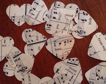 Beautiful Sheet Music Confetti Hearts - 200