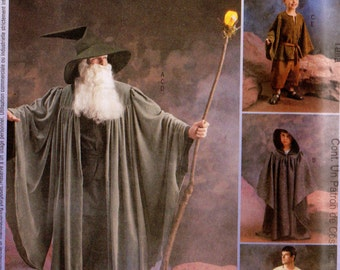 GANDALF Hobbits WIZARDS Witches JEDI McCall's Costumes Pattern 3789 Kid Sizes 3-8