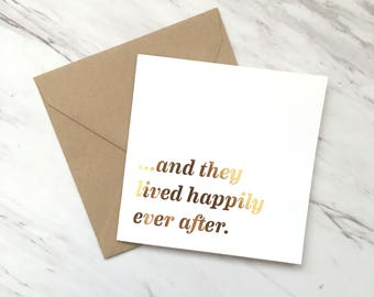 Happily Ever After Wedding Card, Happy Anniversary Card