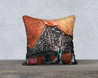 The bright MTL bridge in gold Cushion cover - Pillow Case MTL