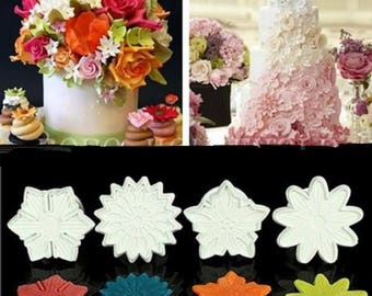 4 molds cake Print 4 forms for almond paste paste has sugar Cake Design
