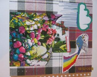 Tartan bird collage