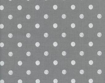 Caterpillar Dots Grey - Wonderland - Anna Bond Rifle Paper Co - Cotton + Steel - 8023-03