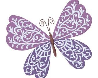 Frühling launisches Schmetterling auf maßgeschneiderte Kissenbezug bestickt