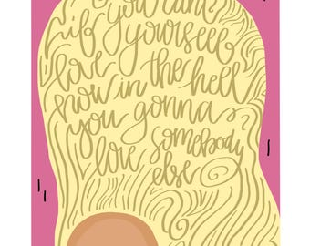 If You Can't Love Yourself Rupaul Drag Race Illustration Quote Wall Art Print