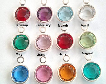 Add your birthstone to a necklace.. Swarovski crystal birth charm