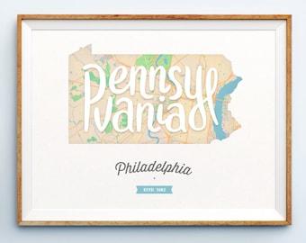 Philadelphia Print - Philadelphia Art - Philadelphia Poster