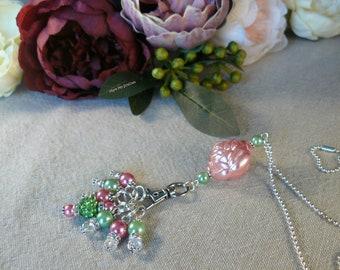 Rose Stitch Marker Necklace
