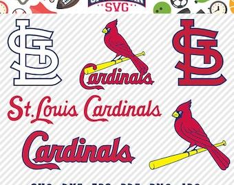 Saint Louis Cardinals svg pack- baseball team, baseball league, baseball cut files collection vector clipart digital download  png, jpg, eps